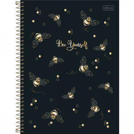 Caderno Universitário Abelha Bee Yourself 160 Folhas