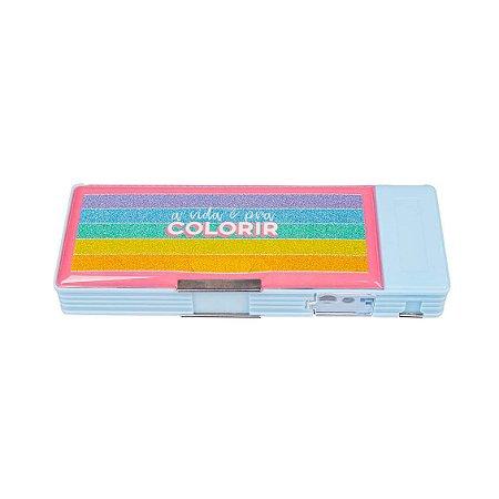 Estojo Organizador com Divisórias Colorido