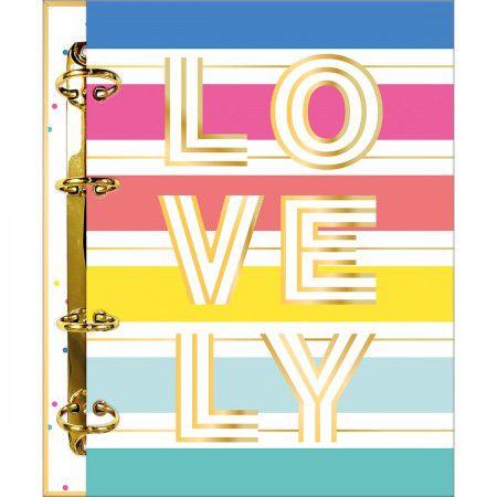 Caderno Fichário Lovely 160 Folhas