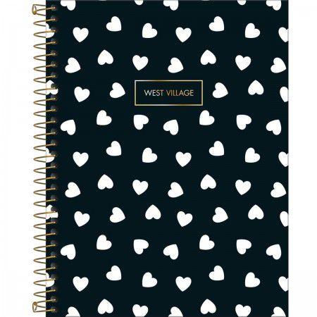 Caderno Colegial 10 Matérias West Village Coração