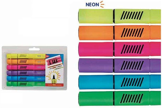 Conjunto Marca Texto Neon C/6
