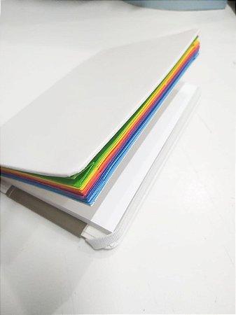 Caderneta Branca c/ Pasta Sanfonada