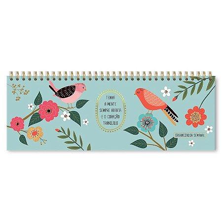 Planner Semanal Pássaros