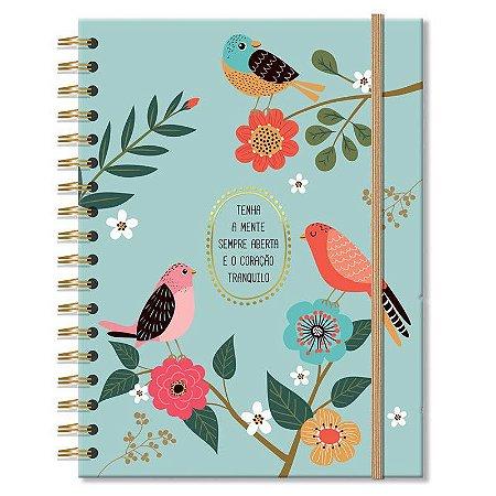 Caderno Pássaros Médio 96 folhas