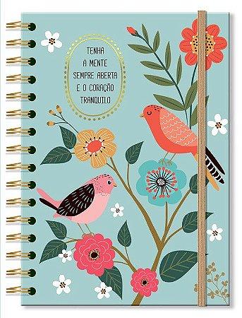 Caderno Midi Pássaros 96 folhas