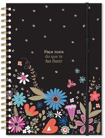 Caderno Florido Grande 96 folhas