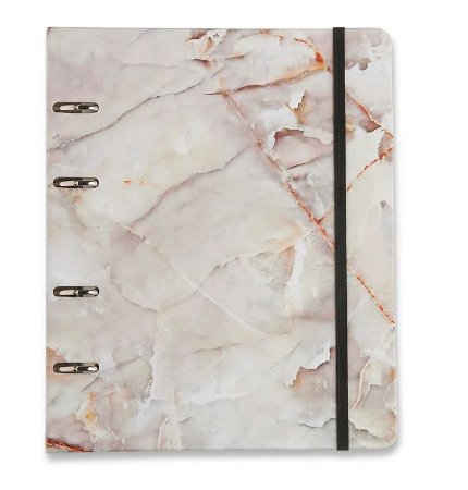 Caderno Fichário 4 Furos Marmorizado