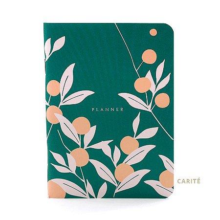 Mini Bloco Planner para 3 Meses Verde Floral