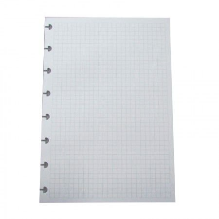 Refil Quadriculado Grande Caderno Inteligente