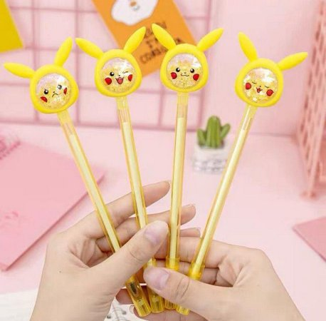 Caneta Divertida Pikachu Preta