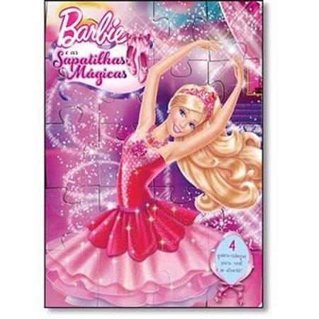 Livro Quebra-Cabeça Barbie e as Sapatilhas Mágicas