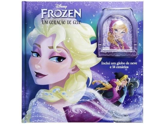 Livro com Globo de Neve Frozen