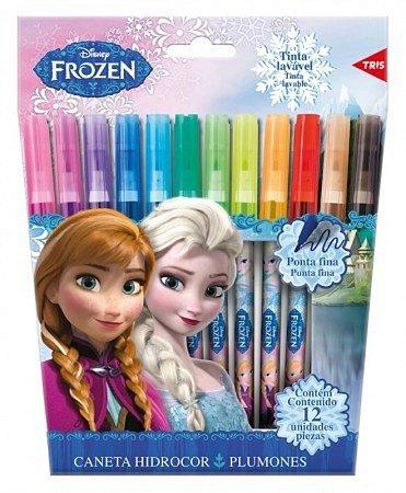 Canetinha Hidrocor 12 Cores - Frozen