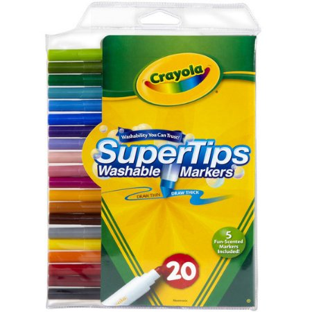 Canetinha Lavável Super Tips - 20 Cores - Crayola