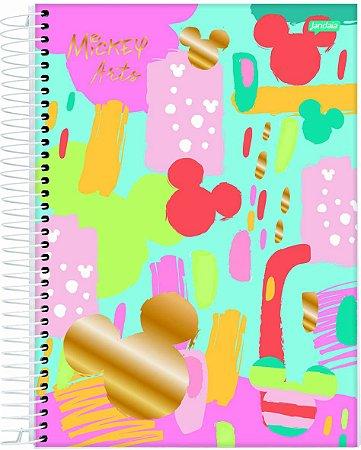 Caderno Espiral 1 Matéria Mickey Arts Azul