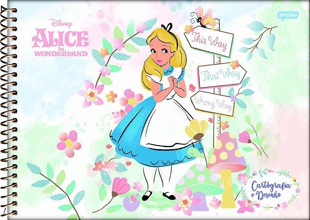 Caderno Cartografia e Desenho Alice no País das Maravilhas