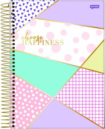 Caderno Espiral Médio 1 Matéria La Creme Happiness