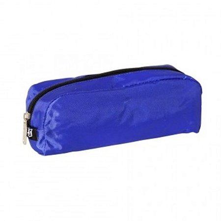 Estojo Escolar de Nylon Azul