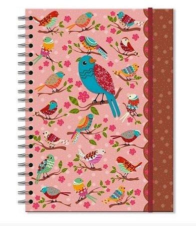 Caderno Passarinhos Silvestres - 100 Folhas