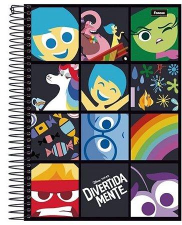 Caderno DivertidaMente Colorido 200 Folhas