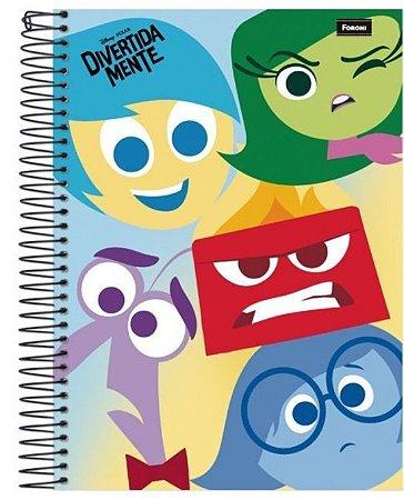 Caderno DivertidaMente Personagens 200 Folhas