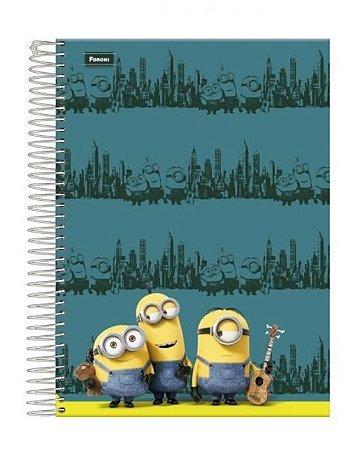 Caderno Minions Músicos 200 Folhas