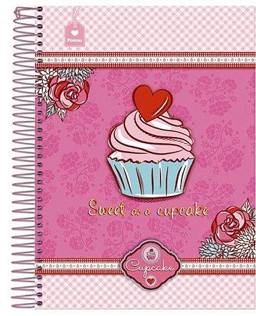 Caderno Cupcake 200 Folhas