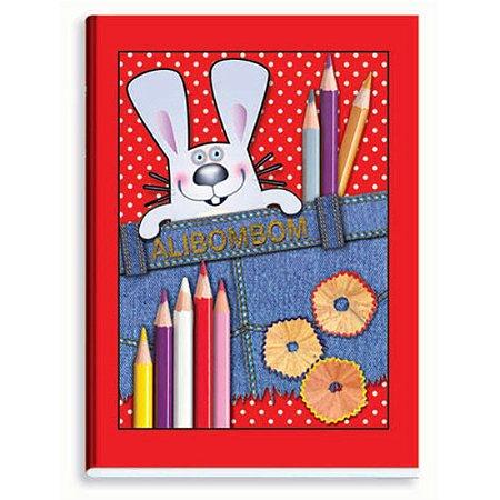 Caderno Alibombom Brochura Capa Flexível Vermelho