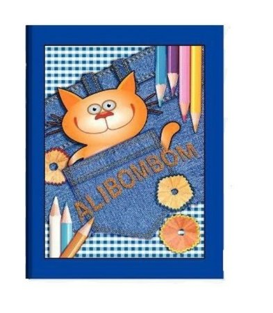 Caderno Alibombom Brochura Capa Dura Azul