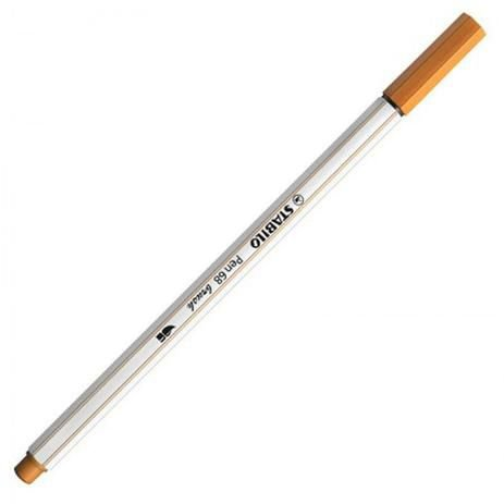 Caneta Stabilo Brush Pen 68/89 Marrom Claro