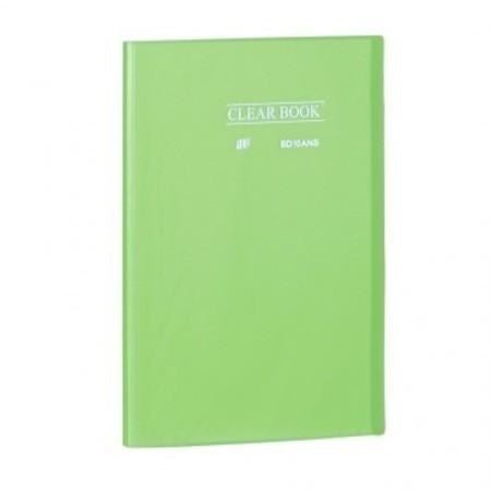 Pasta Catálogo ClearBook 10 folhas A4 Verde