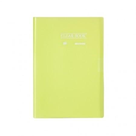 Pasta Catálogo ClearBook 20 folhas A4 Verde