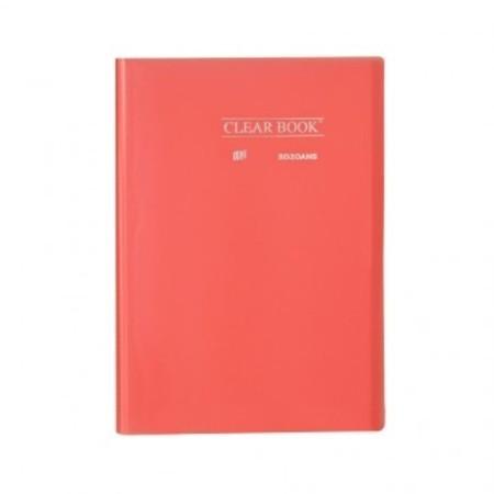 Pasta Catálogo ClearBook 20 folhas A4 Rosa