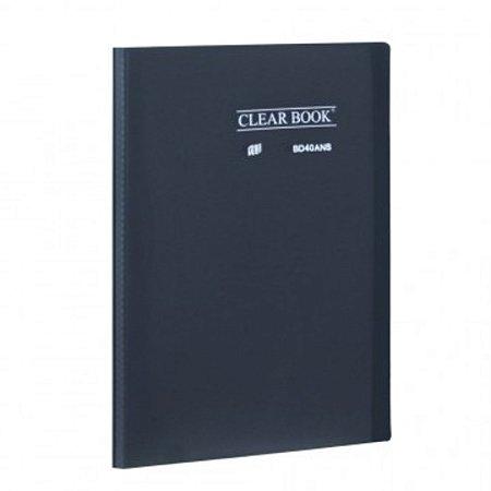 Pasta Catálogo ClearBook 40 folhas A4 Fumê