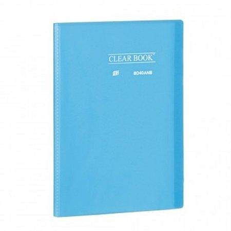 Pasta Catálogo ClearBook 40 folhas A4 Azul