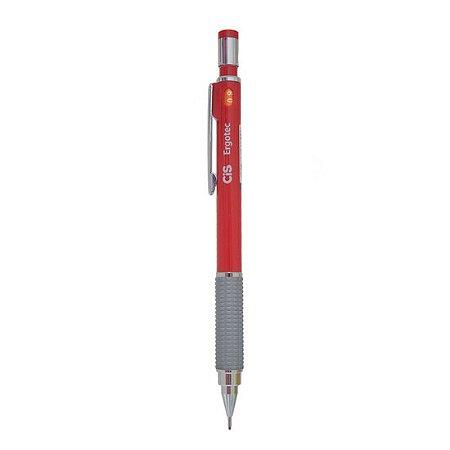 Lapiseira Ergotec 0.9mm Vermelha