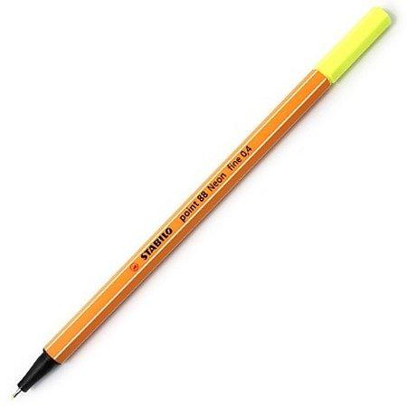 Caneta Stabilo Point 88/24 - Neon Yellow