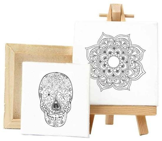 Tela de Pintura Mandala Flor