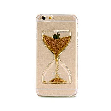 Capa Case Ampulheta Dourada - Iphone 5/5S