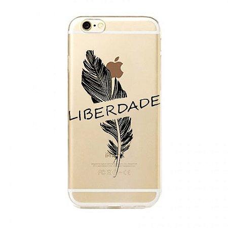 Capa Case Liberdade e Pena - Iphone 6/6S
