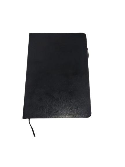 Caderneta Pautada Preta com Caneta
