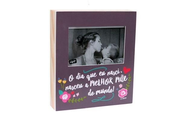 Porta Retrato Madeira - Melhor mãe do Mundo