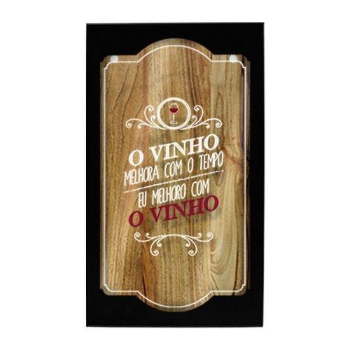 Quadro Porta Rolhas O Vinho Melhora