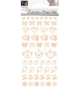 Adesivo Mini Foil Rosé Chá e Futas