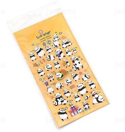 Adesivo Panda Alto Relevo