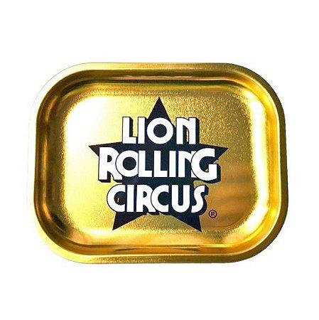 Bandeja Pequena Lion Rolling Circus Dourada