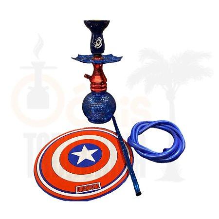 Kit Narguile EBS Hookah Capitão América
