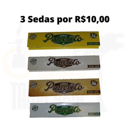 Sedas 3 por R$10,00 Papelito