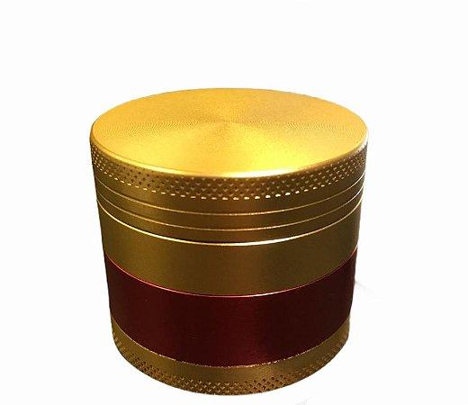 Dichavador Grinder 3 Fases Ouro Vermelho