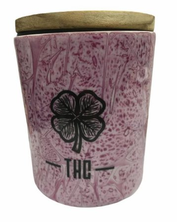 Pote Hermético de Porcelana THC Rosa (M)